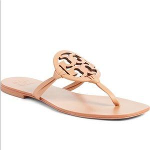 Tory Burch Miller Square Toe T Logo Sandal Thongs